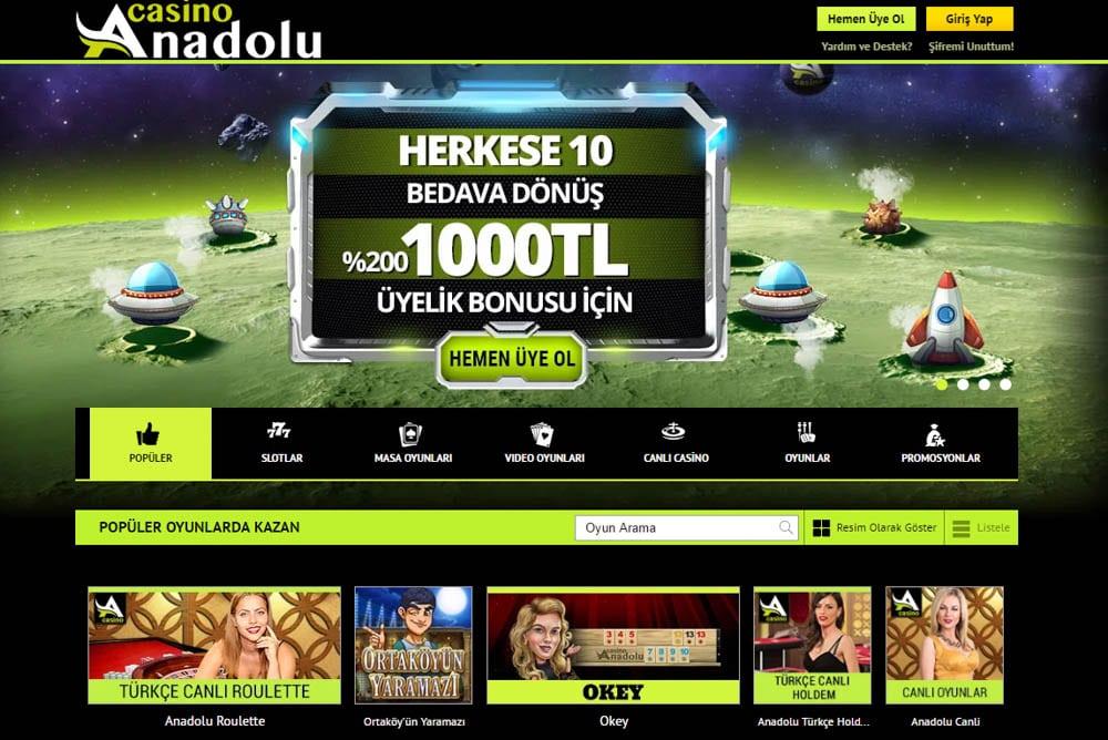 Anadolu Casino Bonus ve Kampanyalari