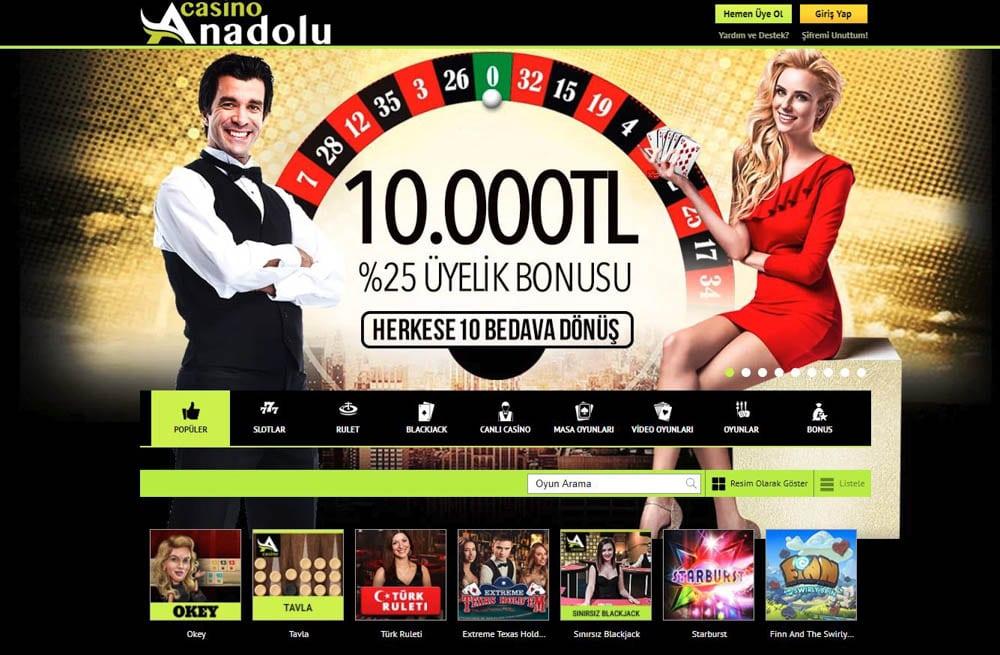 Anadolu Casino Ilk Uyelik Bonusu