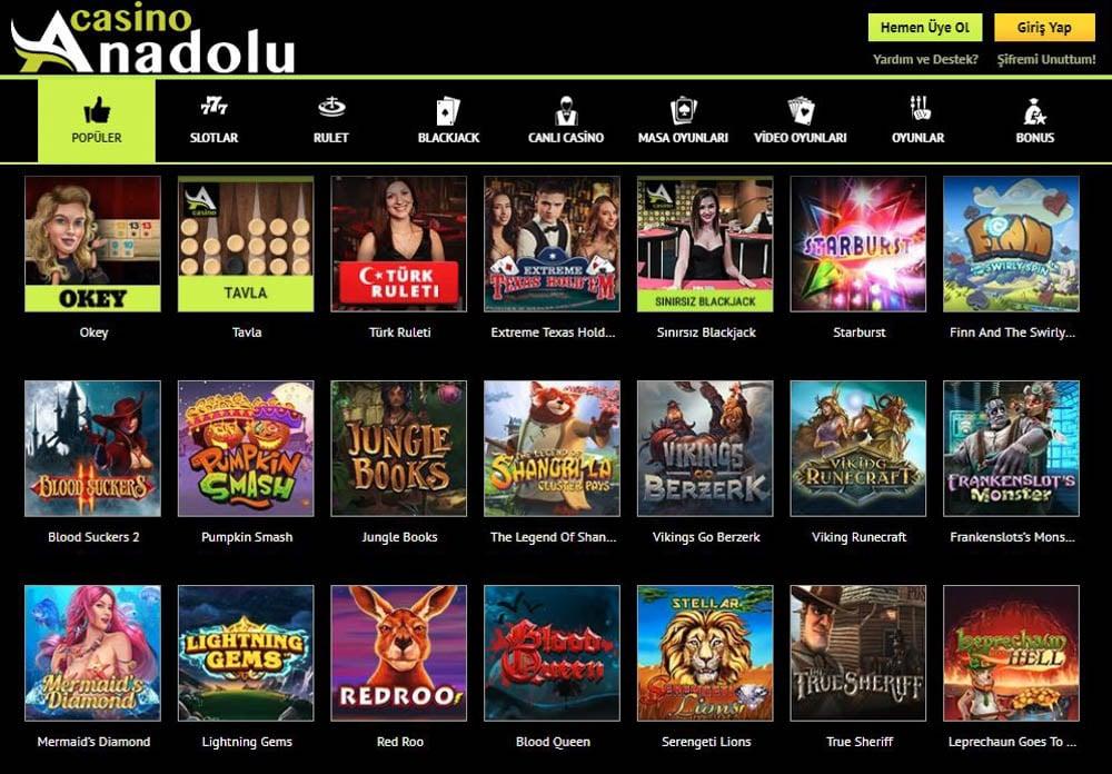 Anadolu Casino Kayit