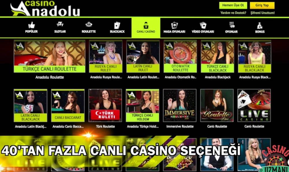Anadolu Casino Sitesi Hakkindaki Yorumlar