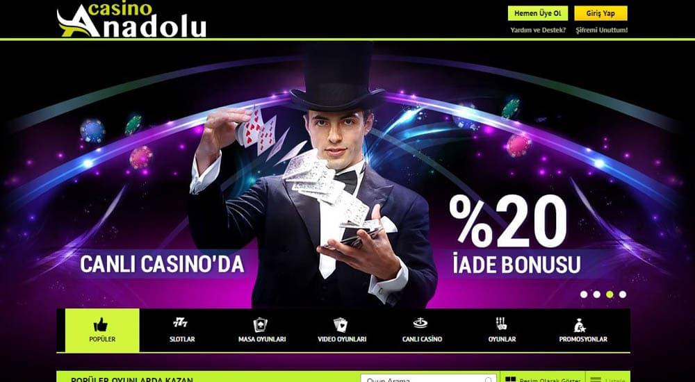 Anadolu Casino Uyelik Adimlari
